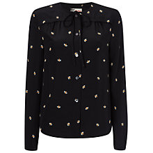 Buy Boutique by Jaeger Bee Print Blouse, Black Online at johnlewis.com