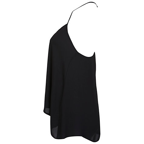 Buy Miss Selfridge Diamanté Trim Camisole Top, Black Online at johnlewis.com