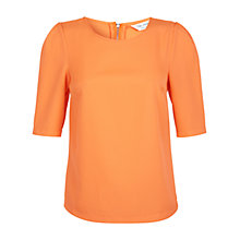 Buy Miss Selfridge 3/4 Sleeve Top, Orange Online at johnlewis.com