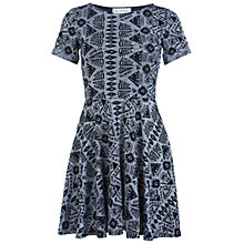 Buy Miss Selfridge Ikat Skater Dress, Black Online at johnlewis.com