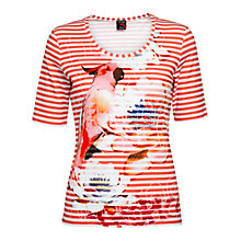 Buy Betty Barclay Parrot Stripe Tee, Pink Online at johnlewis.com