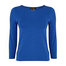 Buy Jaeger Seamed Detail Top, Electric Blue Online at johnlewis.com
