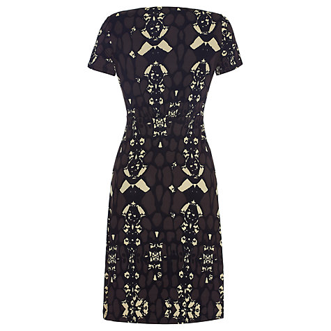 Buy allegra by Allegra Hicks Harper Dress, Animal Cocoa Online at johnlewis.com