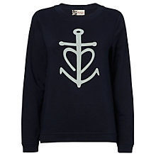 Buy Boutique by Jaeger Anchor Sweatshirt, Navy Online at johnlewis.com