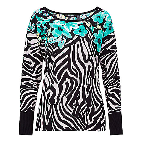 Buy Betty Barclay Zebra and Flower Print Jumper, Print Online at johnlewis.com