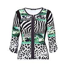 Buy Betty Barclay Zip Front Jungle Print Cardigan, Print Online at johnlewis.com