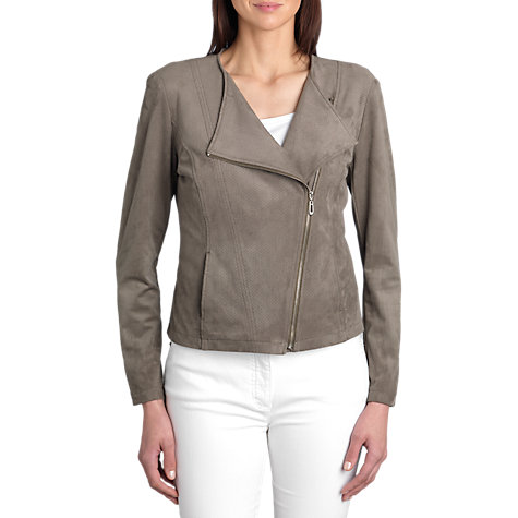 Buy Betty Barclay Faux Suede Biker Jacket, Dusty Reed Online at johnlewis.com