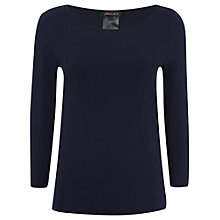 Buy Jaeger Seamed Detail Top, Navy Online at johnlewis.com