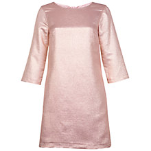 Buy Miss Selfridge Lurex Shift Dress, Rose Pink Online at johnlewis.com