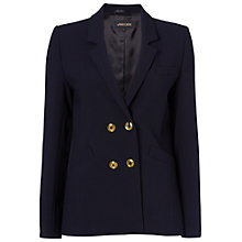 Buy Jaeger Wool Double Breasted Blazer, Navy Online at johnlewis.com