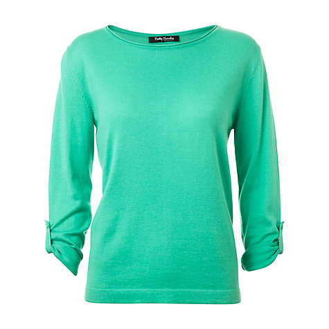 Buy Betty Barclay Back Button Jumper, Green Online at johnlewis.com