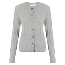 Buy John Lewis Cashmere Cable Crew Neck Cardigan Online at johnlewis.com