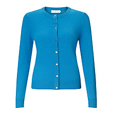 Buy John Lewis Crew Neck Cashmere Cardigan, Mid Blue Online at johnlewis.com