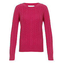 Buy John Lewis Cashmere Cable Crew Neck Jumper Online at johnlewis.com