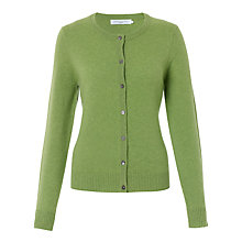 Buy John Lewis Crew Neck Cashmere Cardigan, Grass Green Online at johnlewis.com