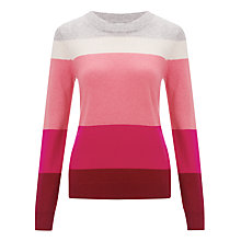 Buy John Lewis Cashmere Crew Neck Jumper, Pink Stripe Online at johnlewis.com