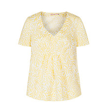 Buy John Lewis Wide Pleat Linen Top, Multi Online at johnlewis.com
