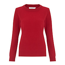 Buy John Lewis Cashmere Crew Neck Jumper, Red Online at johnlewis.com