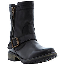 Buy Steve Madden Forrt Calf Boot, Black Online at johnlewis.com