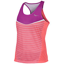 Buy Saucony Ignite Tank Top, Purple/Coral Online at johnlewis.com