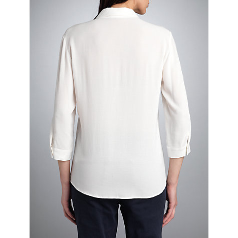 Buy Betty Barclay Button Pleat Roll Up Shirt, Cream Online at johnlewis.com