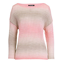 Buy Betty Barclay 3/4 Stripe Jumper, Pink Online at johnlewis.com
