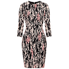 Buy Whistles Lorie Spray Print Dress, Pink / Multi Online at johnlewis.com