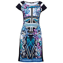 Buy Betty Barclay Oriental Flower Print Dress, Navy Online at johnlewis.com
