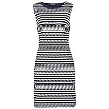 Buy Betty Barclay Sleeveless Wave Effect Dress, Navy Online at johnlewis.com