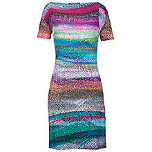 Buy Betty Barclay Drape Digital Print Dress, Multi Online at johnlewis.com