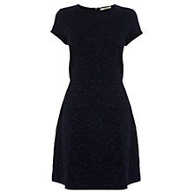 Buy Oasis Floral Tapestry Ponte Dress, Navy Online at johnlewis.com