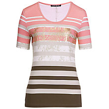 Buy Betty Barclay Stripe Foil Tee, Multi Online at johnlewis.com