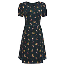 Buy Oasis Swallow Bird Skater Dress, Deep Green Online at johnlewis.com
