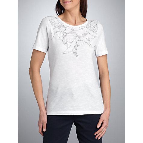 Buy Betty Barclay Stud Front T-Shirt, White Online at johnlewis.com