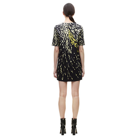 Buy Whistles Spray Print Dress, Black / Multi Online at johnlewis.com