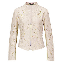 Buy Betty Barclay Shirt Lace Jacket, Natural Online at johnlewis.com
