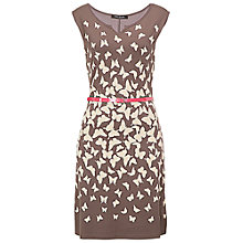 Buy Betty Barclay Butterfly Jersey Dress, Brown Online at johnlewis.com