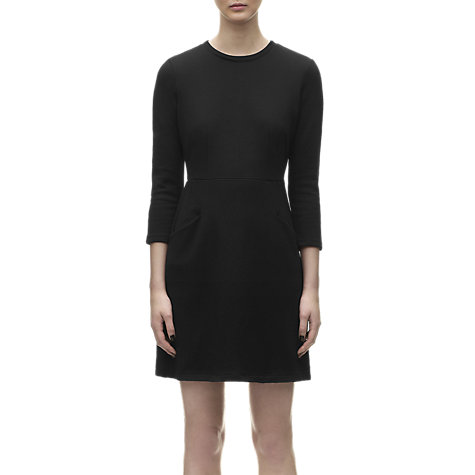 Buy Whistles Shona Jersey Dress, Black Online at johnlewis.com