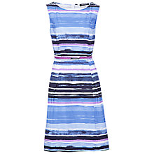 Buy Betty Barclay Stripe Print Boat Neck Dress, Blue Online at johnlewis.com