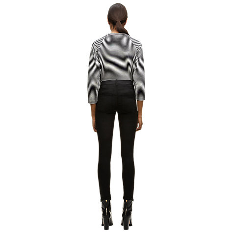 Buy Whistles Luna Coated Skinny Jeans, Black Online at johnlewis.com