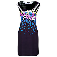 Buy Betty Barclay Stripe and Flower Print Dress, Navy Online at johnlewis.com