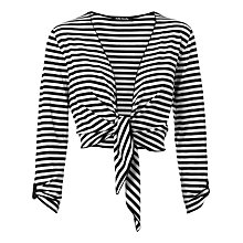 Buy Betty Barclay Stripe Tie Shrug, Navy Online at johnlewis.com