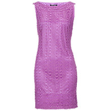 Buy Betty Barclay Crochet Effect Dress, Pink Online at johnlewis.com