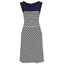 Buy Betty Barclay Short Sleeve Stripe Dress, Navy Online at johnlewis.com