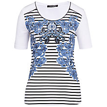 Buy Betty Barclay Floral Stripe Print T-Shirt, Multi Online at johnlewis.com