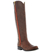 Buy Steve Madden Ruse Long Double Zip Knee High Boots, Brown Online at johnlewis.com