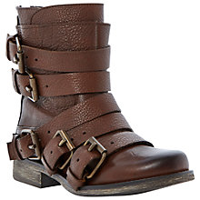Buy Steve Madden Restrayn Grained Leather Ankle Boots Online at johnlewis.com