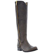 Buy Steve Madden Ruse Long Double Zip Knee High Boots, Black Online at johnlewis.com