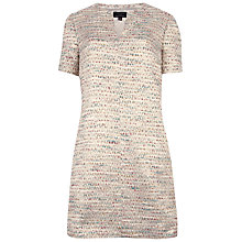 Buy Ted Baker Clarys Boxy V-Neck Tunic Dress, Gold Online at johnlewis.com
