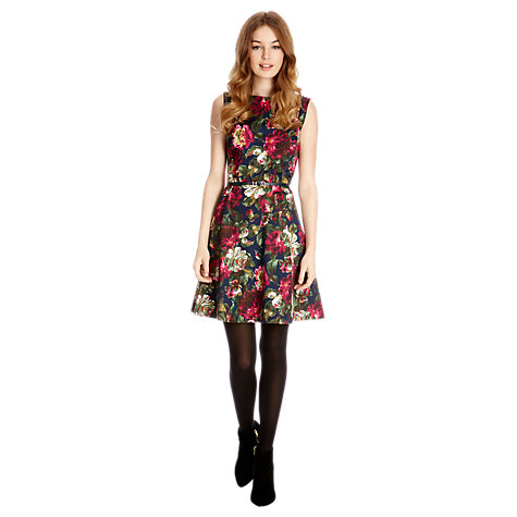 Buy Oasis Skater Dress, Multi Blue Online at johnlewis.com